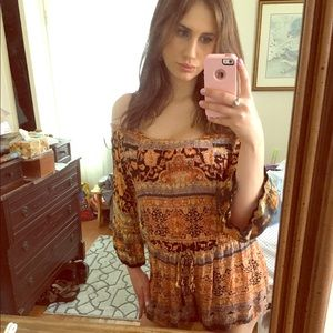 Tribal print short jumpsuit